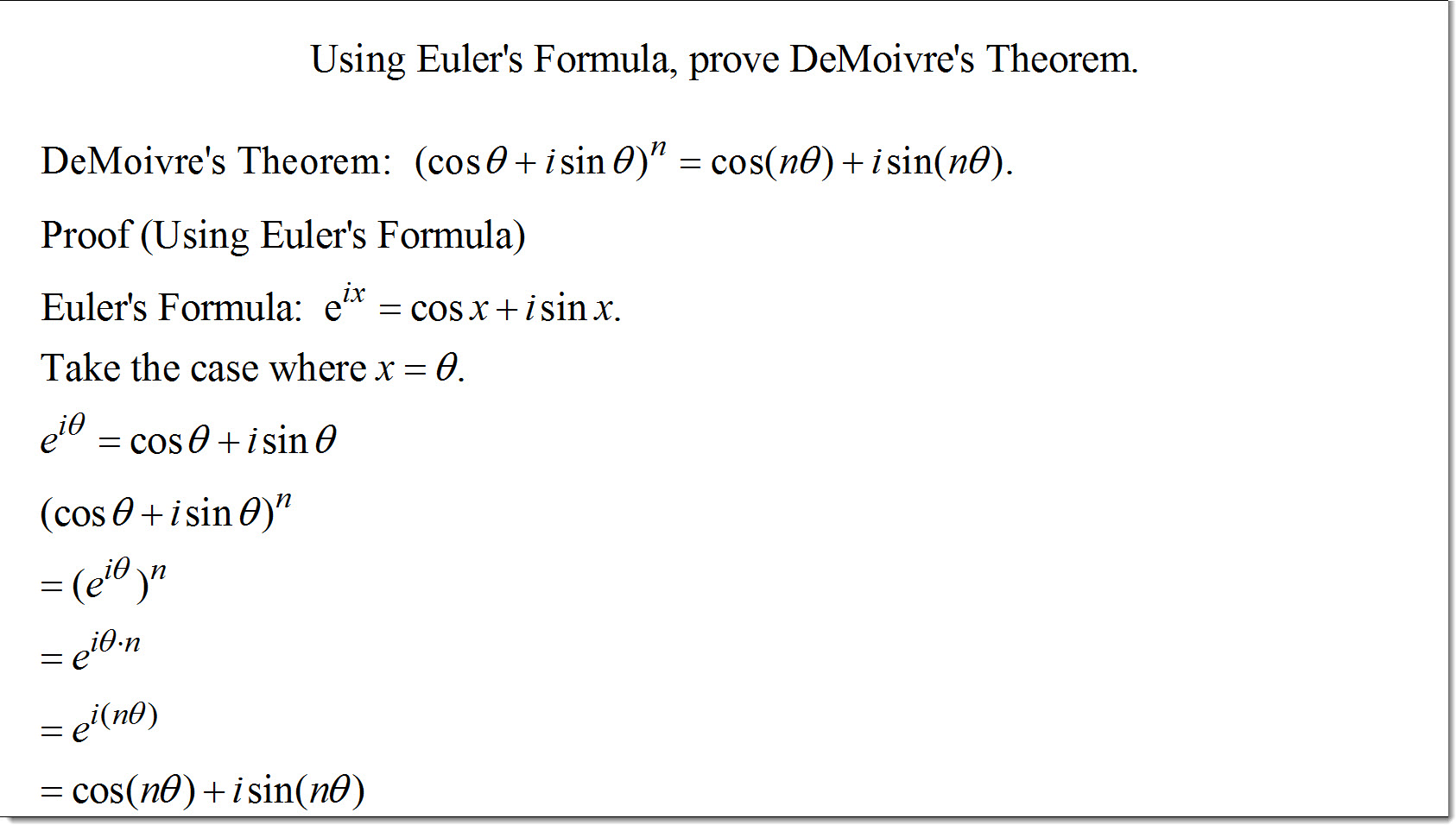 Image Gallery euler's theorem